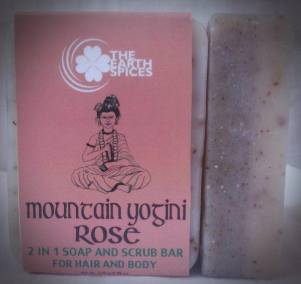 Mountain Yogini Rose Soap and Scrub Bar
