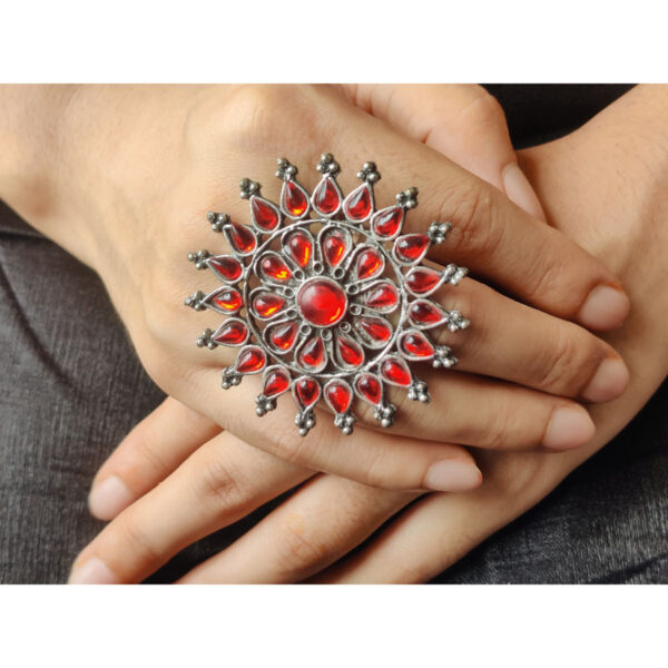 red attractive ring